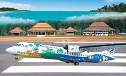 Bangkok Airways vliegtuig naar Trat